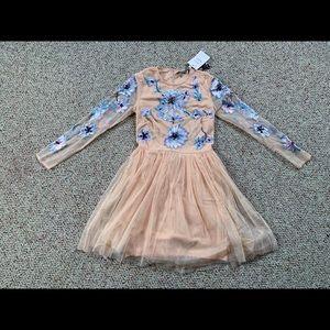 ASOS mini floral embellished tulle dress